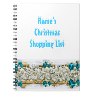 Christmas snow decorations shopping note book