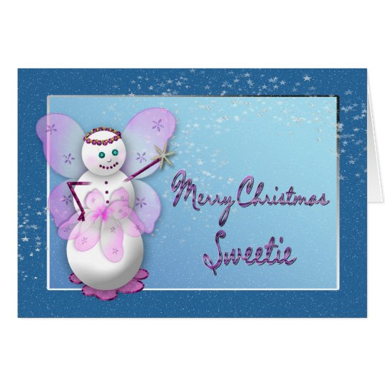 CHRISTMAS - SNOW FAIRY - MAGICAL CARD