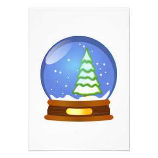 Christmas Snow Globe Personalized Announcements
