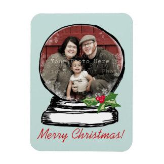 Christmas Snow Globe Photo Magnet