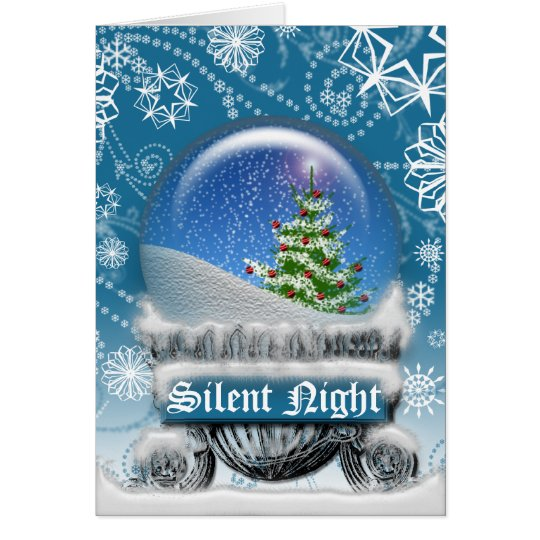 Christmas Snow Globe Winter Scenic Blank Inside Card