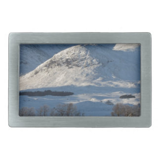 christmas snow in winter rectangular belt buckle