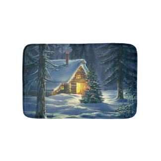 Christmas Snow Landscape Bath Mats