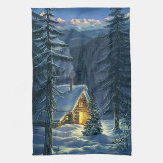 Christmas Snow Landscape Kitchen Towel