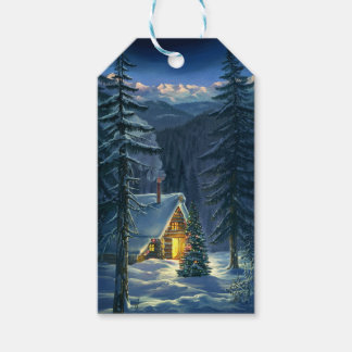 Christmas Snow Landscape Pack Of Gift Tags