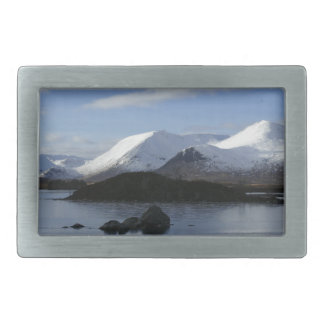 Christmas snow on Black Mount , Scotland Belt Buckles