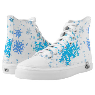 Christmas Snowfall High Tops