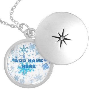 Christmas Snowfall Silver Plated Necklace