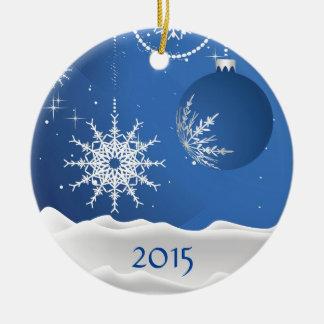 Christmas Snowflake & Ball Ornament Add Name