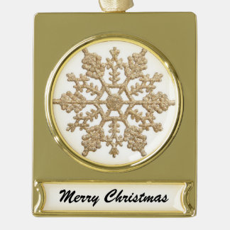 Christmas Snowflake Banner Ornament Gold Plated Banner Ornament