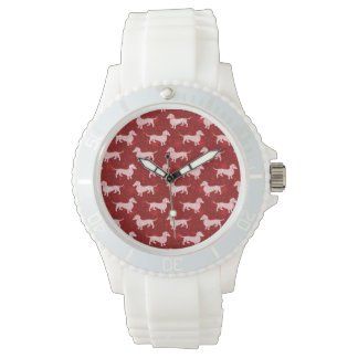 Christmas Snowflake Dachshunds Red Watches