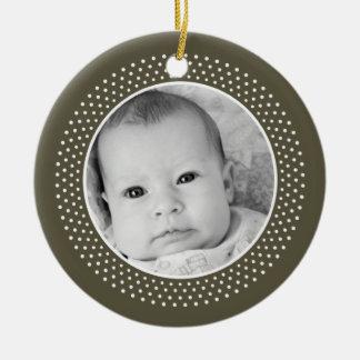 Christmas Snowflake: Double-Sided Photo Christmas Ornament