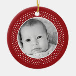 Christmas Snowflake: Double-Sided Photo Christmas Tree Ornaments