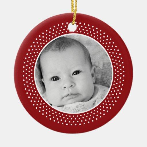 Christmas Snowflake: Double-Sided Photo Christmas Tree Ornaments