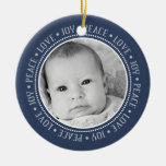 Christmas Snowflake: Double-Sided Photo Christmas Tree Ornament