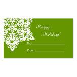 Christmas Snowflake Gift Tag Business Card Templates