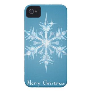 Christmas snowflake greeting Case-Mate iPhone 4 case