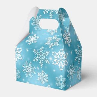 Christmas Snowflake Holiday gable favor box