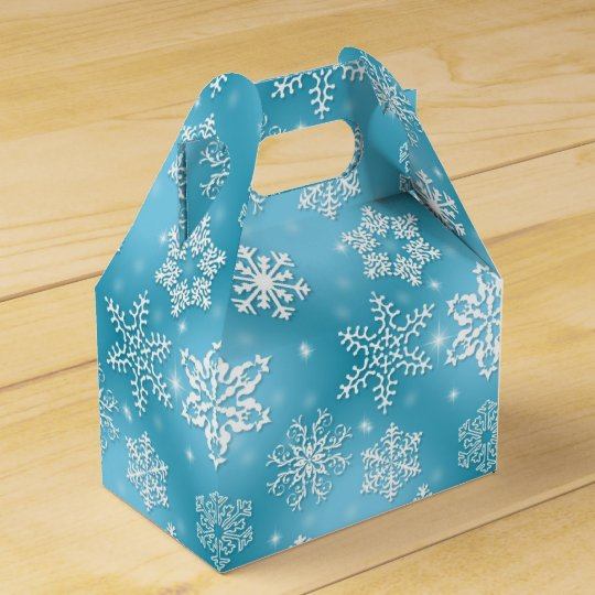 Christmas Snowflake Holiday gable favour box