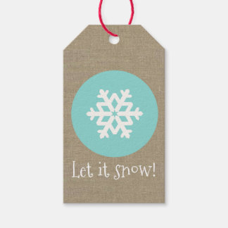 """Christmas Snowflake Medallion """"Let it Snow"""" Gift Tags"""
