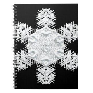 Christmas snowflake notebook
