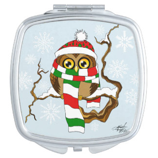 Christmas Snowflake Owl Vanity Mirrors