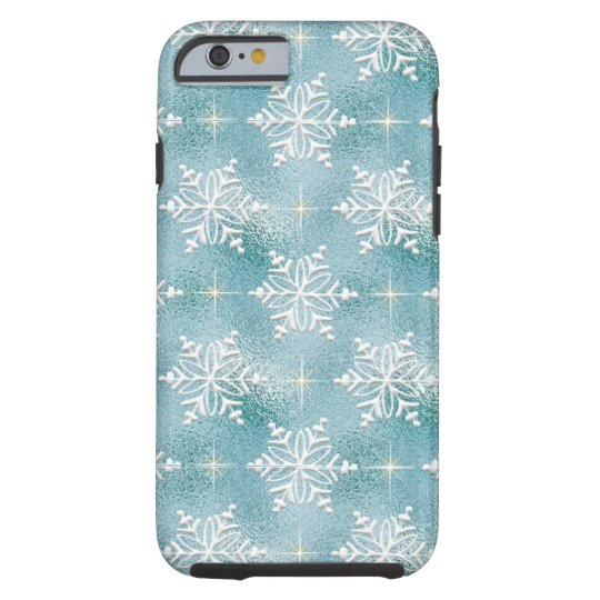 Christmas Snowflake pattern iPhone 6 tough case