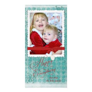 Christmas snowflake photo frame custom photo card