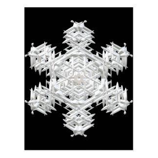 Christmas snowflake postcard