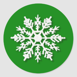 Christmas Snowflake Round Sticker
