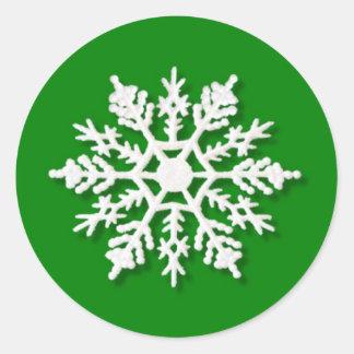 Christmas Snowflake Round Sticker