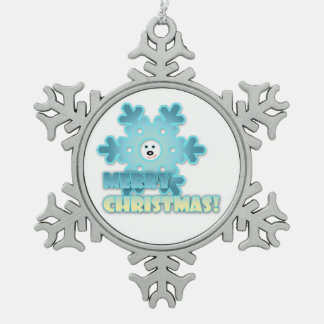 Christmas snowflake snowflake pewter christmas ornament