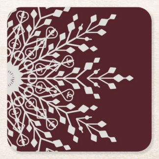 Christmas snowflake square paper coaster