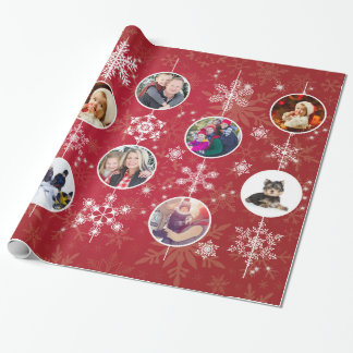 Christmas Snowflakes 10 Favorite Family Photos Red Wrapping Paper