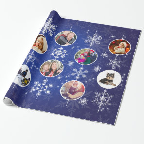 Christmas Snowflakes 10 Favourite Family Photos Wrapping Paper