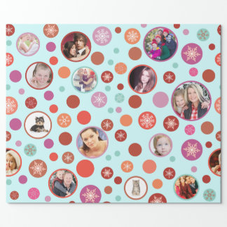 Christmas Snowflakes 14 Favorite Family Pictures Wrapping Paper