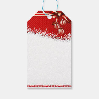 Christmas Snowflakes and Peppermint Decorations Gift Tags