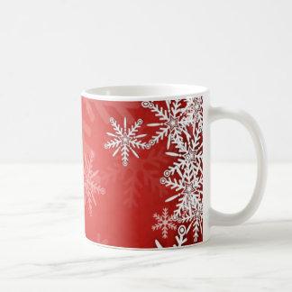Christmas snowflakes basic white mug