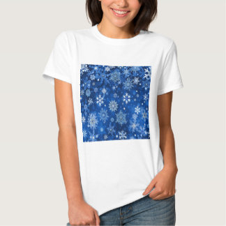 Christmas Snowflakes Blue and Silver T Shirts