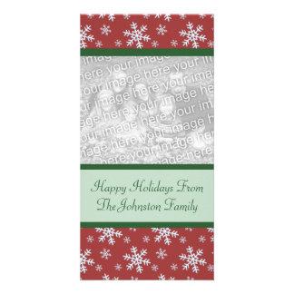Christmas Snowflakes Holiday Photo Cards