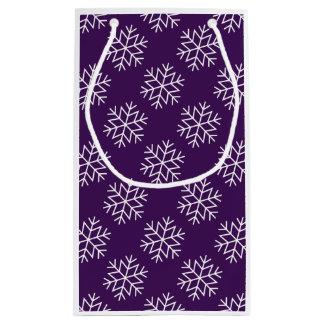 Christmas Snowflakes on Purple Gift Bag