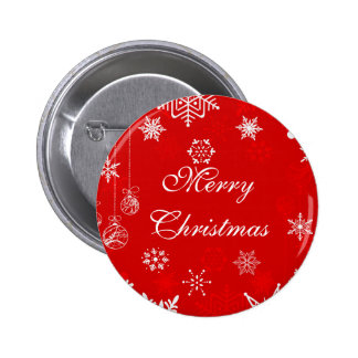 Christmas snowflakes on red button to personalize
