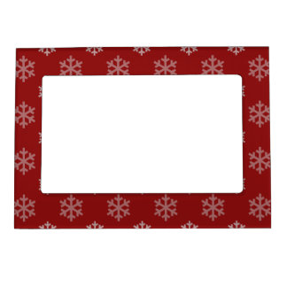 Christmas Snowflakes Pattern Magnetic Picture Frame