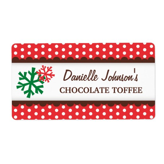Christmas snowflakes red polka dot canning jar