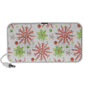 Christmas Snowflakes iPhone Speakers
