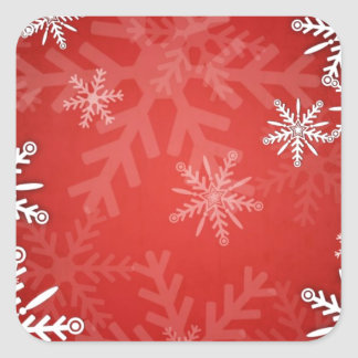 Christmas snowflakes square sticker