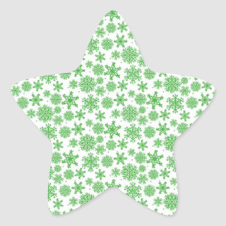 Christmas snowflakes Star Stickers, Glossy Star Sticker