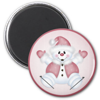 Christmas Snowman 36 Christmas/Holiday 6 Cm Round Magnet