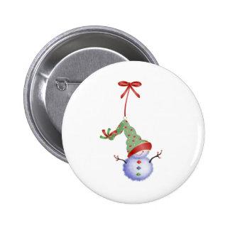 Christmas Snowman 6 Cm Round Badge