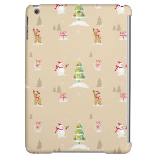 Christmas snowman and reindeer pattern